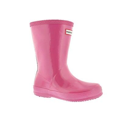 Hunter Infants' FIRST CLASSIC GLOSS pink rain boots