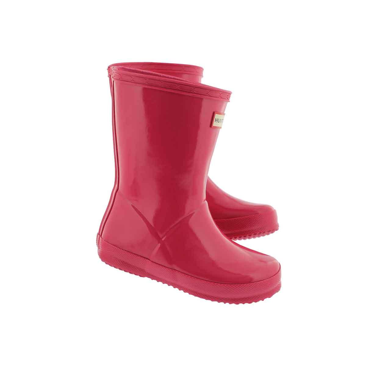 Infs First Classic Gloss pnk rain boot
