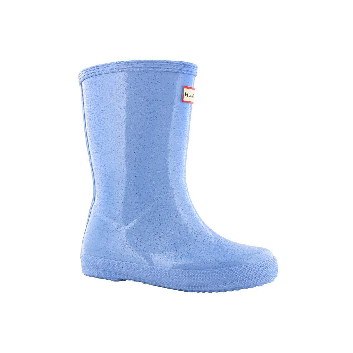 Infs First Clsc Starcloud blue rain boot