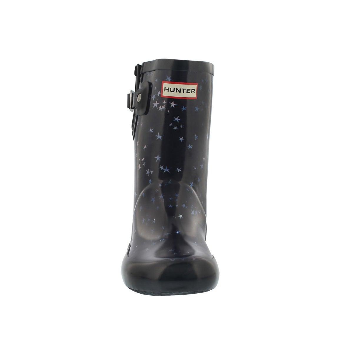 Infs First Flat Sole midnight rain boot