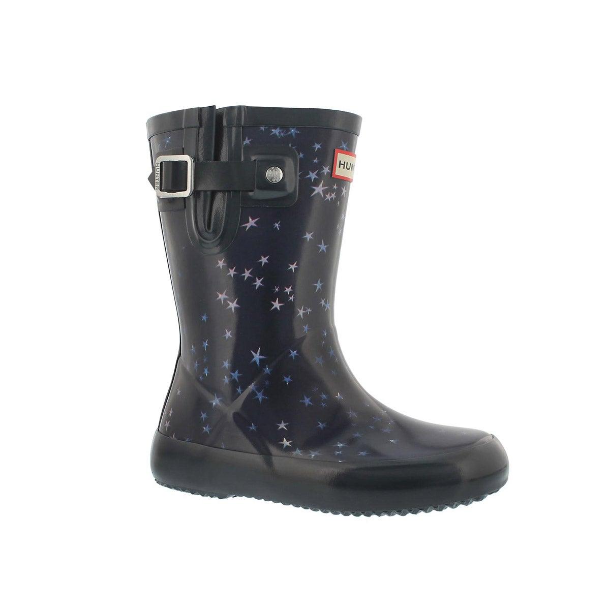 Infants' FIRST FLAT SOLE midnight rain boots