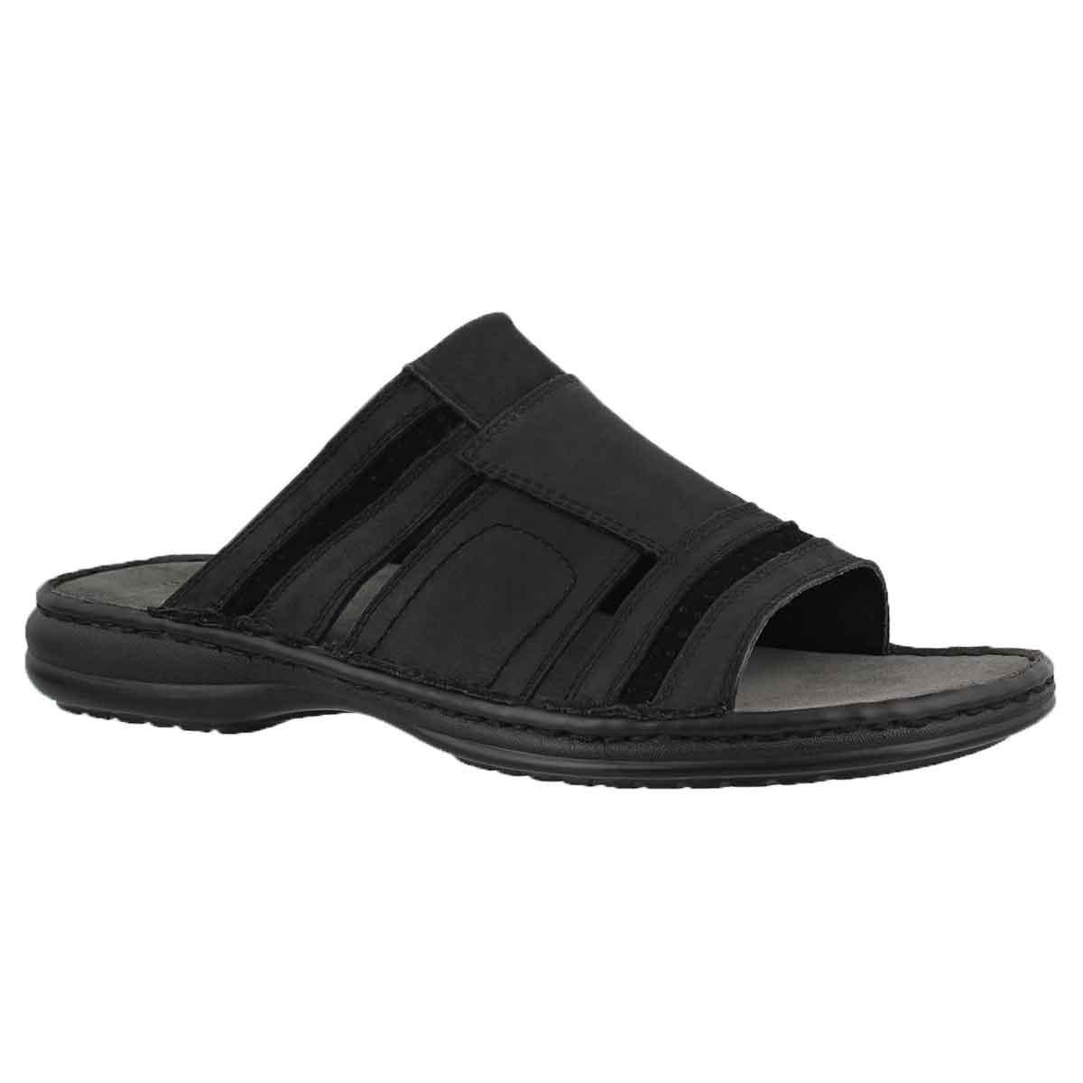 Mns Khal black casual slide sandal