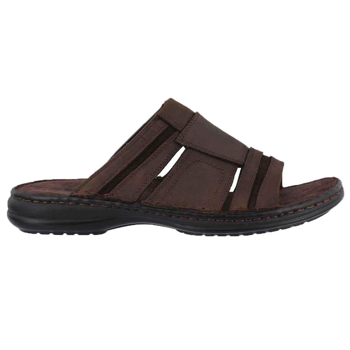 Mns Khal brown casual slide sandal
