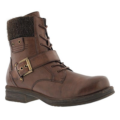 SoftMoc Women's KIARA brown lace up casual boots