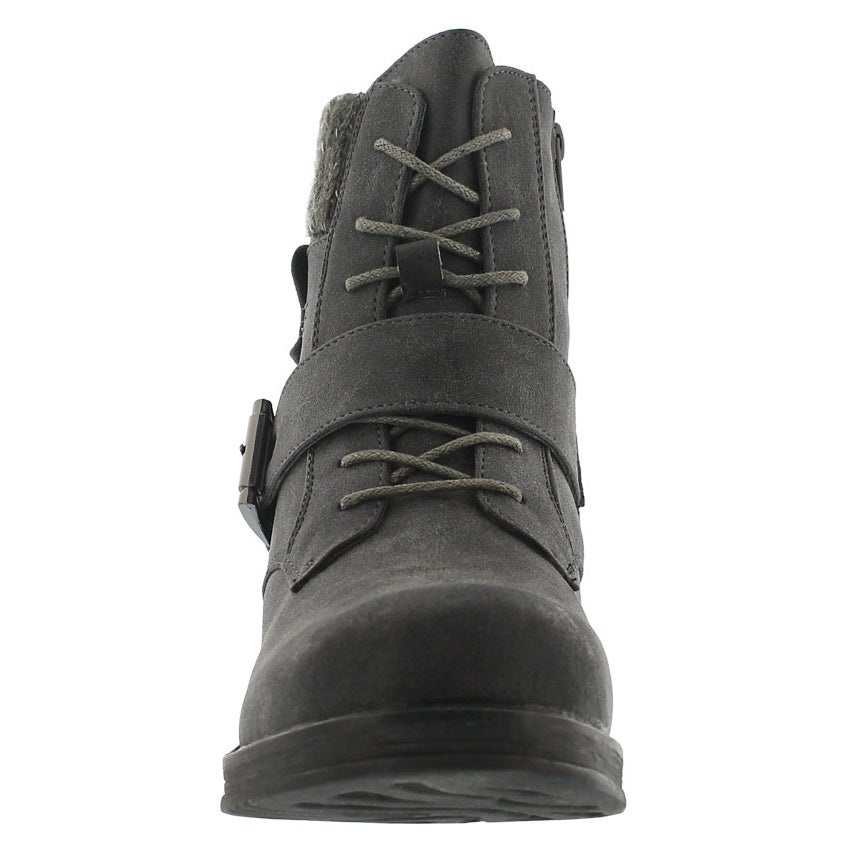 Lds Kiara grey lace up casual boot