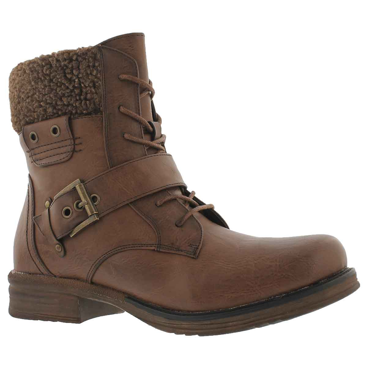 Women's KIARA 2 brown lace up casual boots