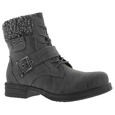Lds Kiara 2 gry lace up casual boot