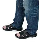 Mns Kiefer black slip on casual sandal