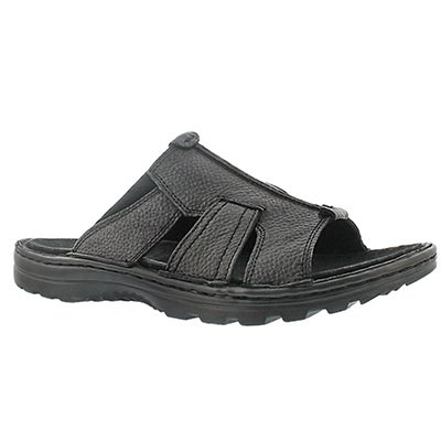 SoftMoc Men's KIEFER black slip on casual sandals