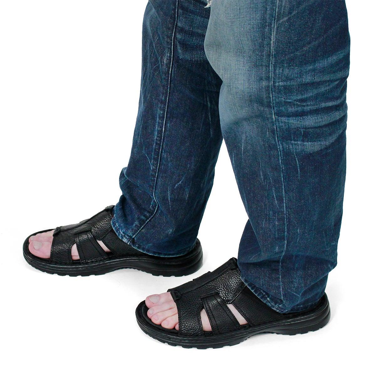 Sandale décontractée Kiefer, noir, homme