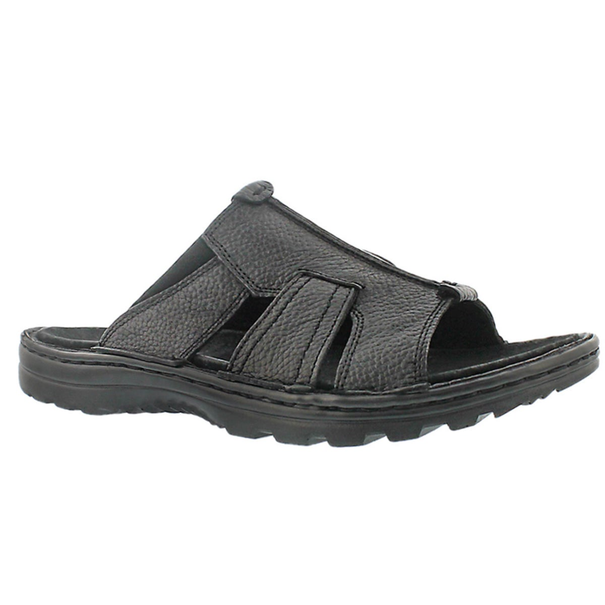 Mns Kiefer black slip on casual sandal