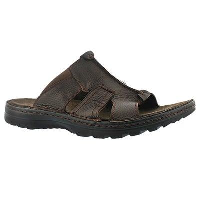 Mns Kiefer brown slip on casual sandal