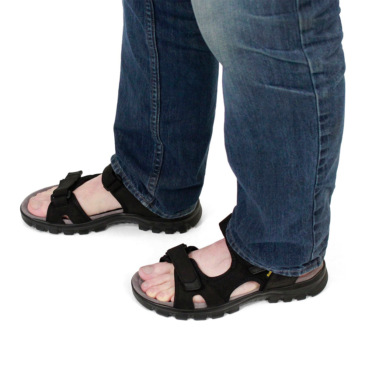 Mns Kirk black 3 strap sport sandal