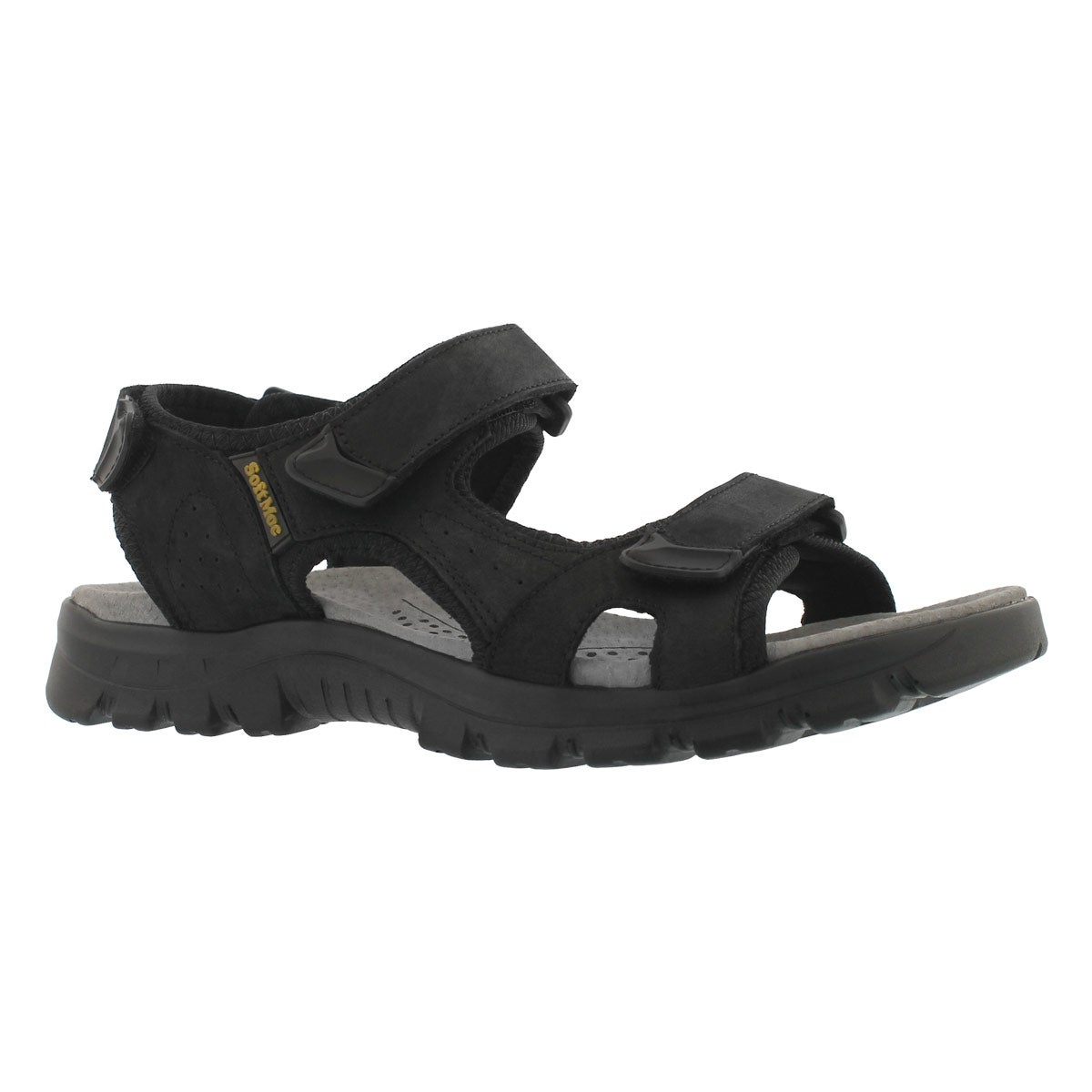 Men's KIRK black 3 strap sport sandals