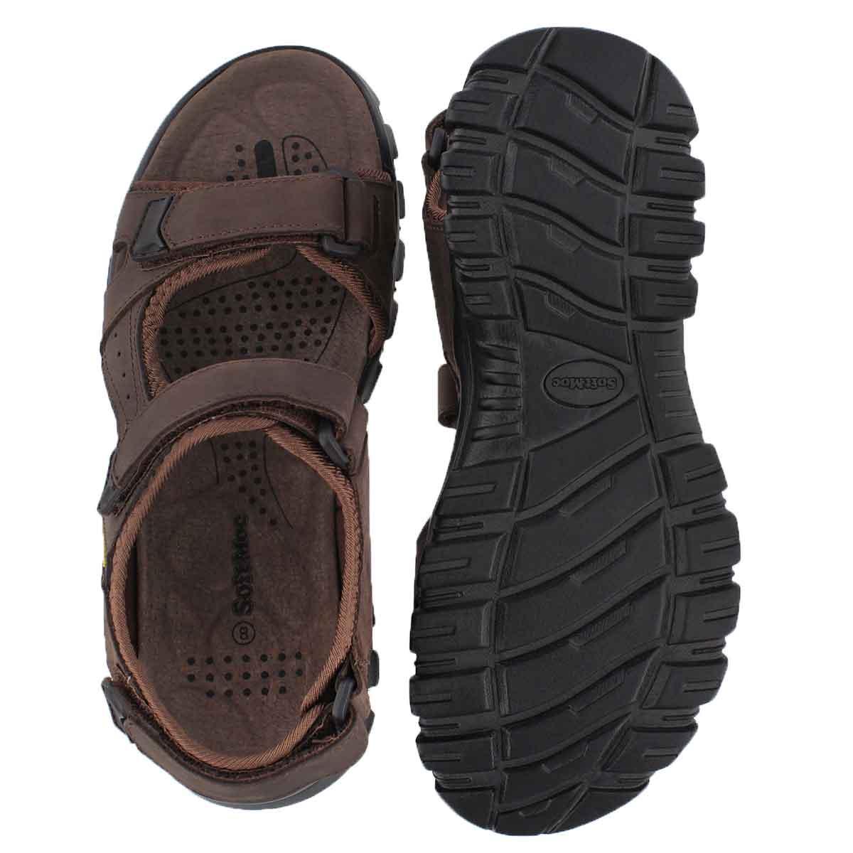 Mns Kirk brown 3 strap sport sandal
