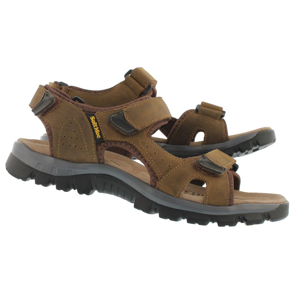 Mns Kirk tan 3 strap sport sandal