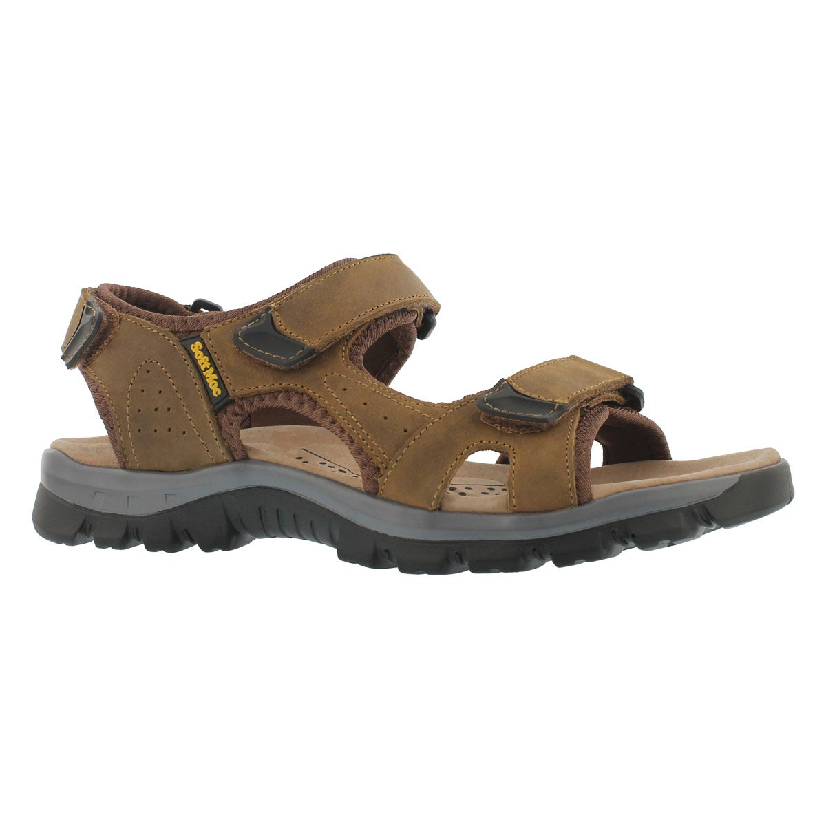 Men's KIRK tan 3 strap sport sandals