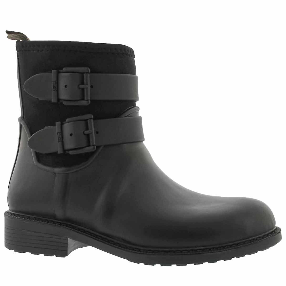 Women's KISMET black waterproof rain boots