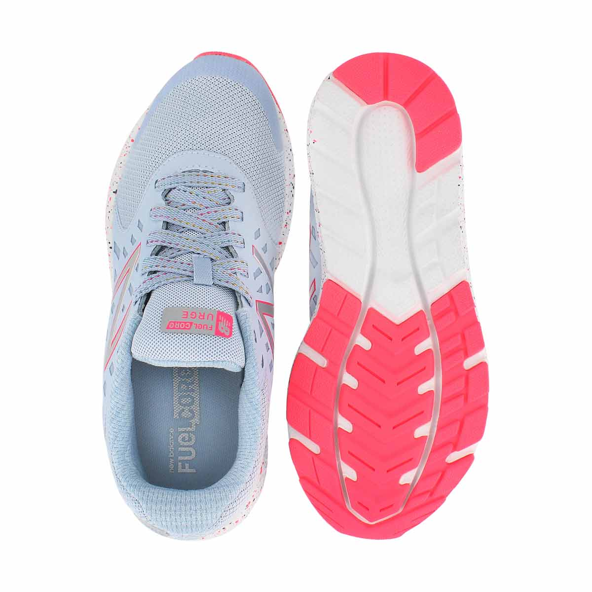 Grls Urge ice blue/pink lace up sneaker