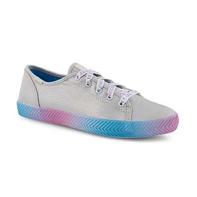Grls Kickstart Herringbone slvr sneaker