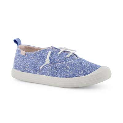 Grls Breaker blu floral fashion sneaker