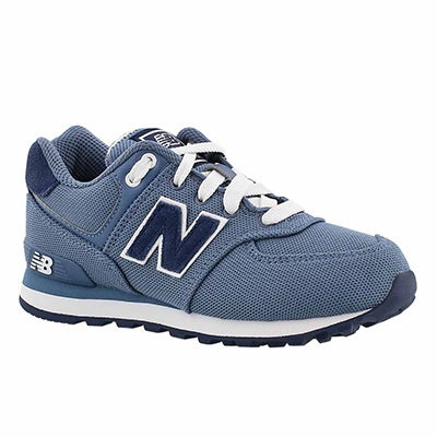 New Balance Boys' 574 chambray lace-up sneakers