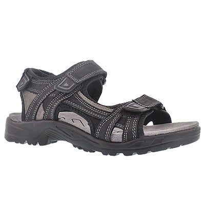 SoftMoc Men's KLUTCH black 3 strap sport sandals