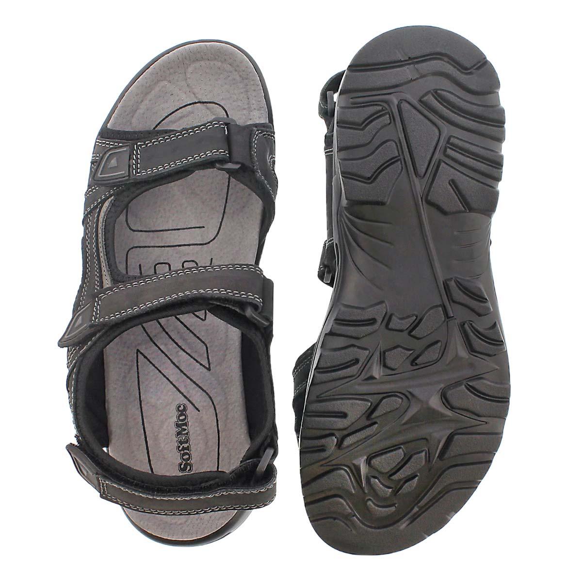 Mns Klutch black 3 strap sport sandal