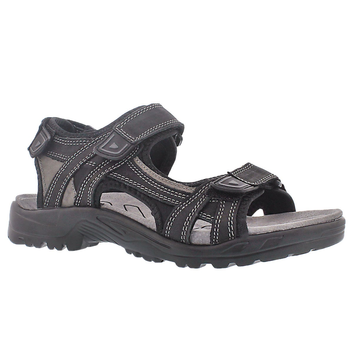 Men's KLUTCH black 3 strap sport sandals