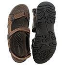 Mns Klutch brown 3 strap sport sandal