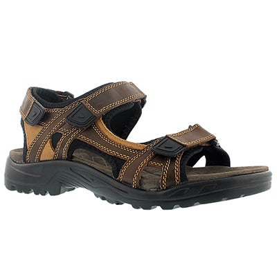 SoftMoc Men's KLUTCH brown 3 strap sport sandals