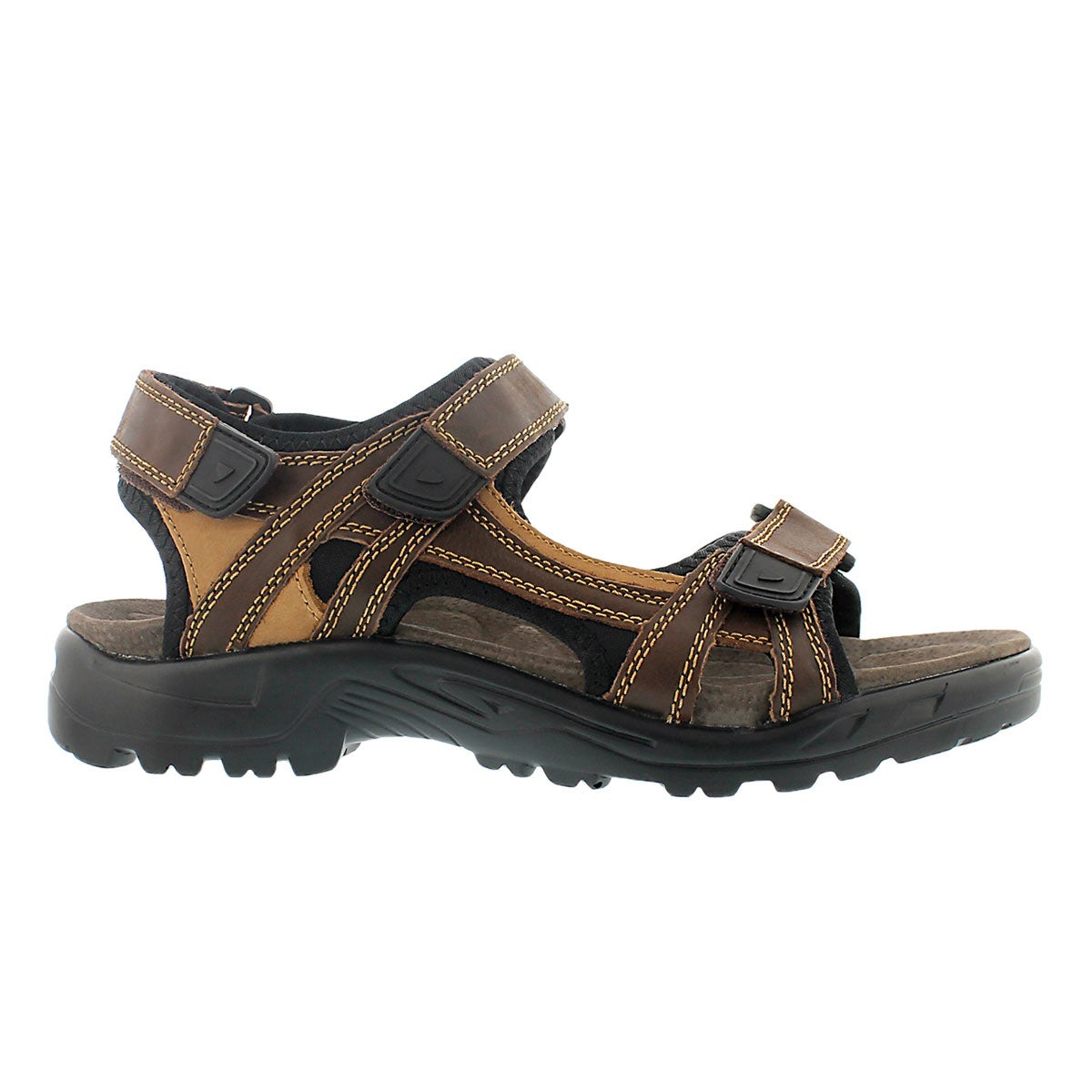 Mns Klutch brown 3 strap sport sandal