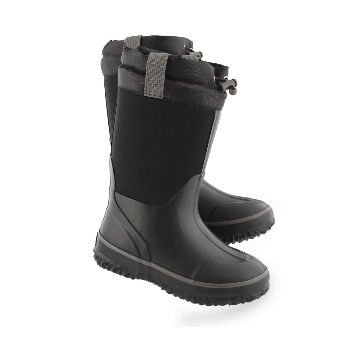 Kids' KNIGHT black waterproof pull on winter boots