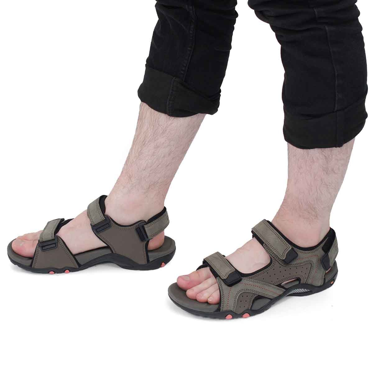 Mns Kraznys taupe 3 strap sport sandal