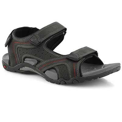 Mns Kraznys 2 black 3 strap sport sandal