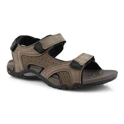 Mns Kraznys 2 taupe 3 strap sport sandal