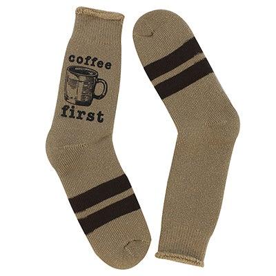 Mns Coffee First amphora crew sock