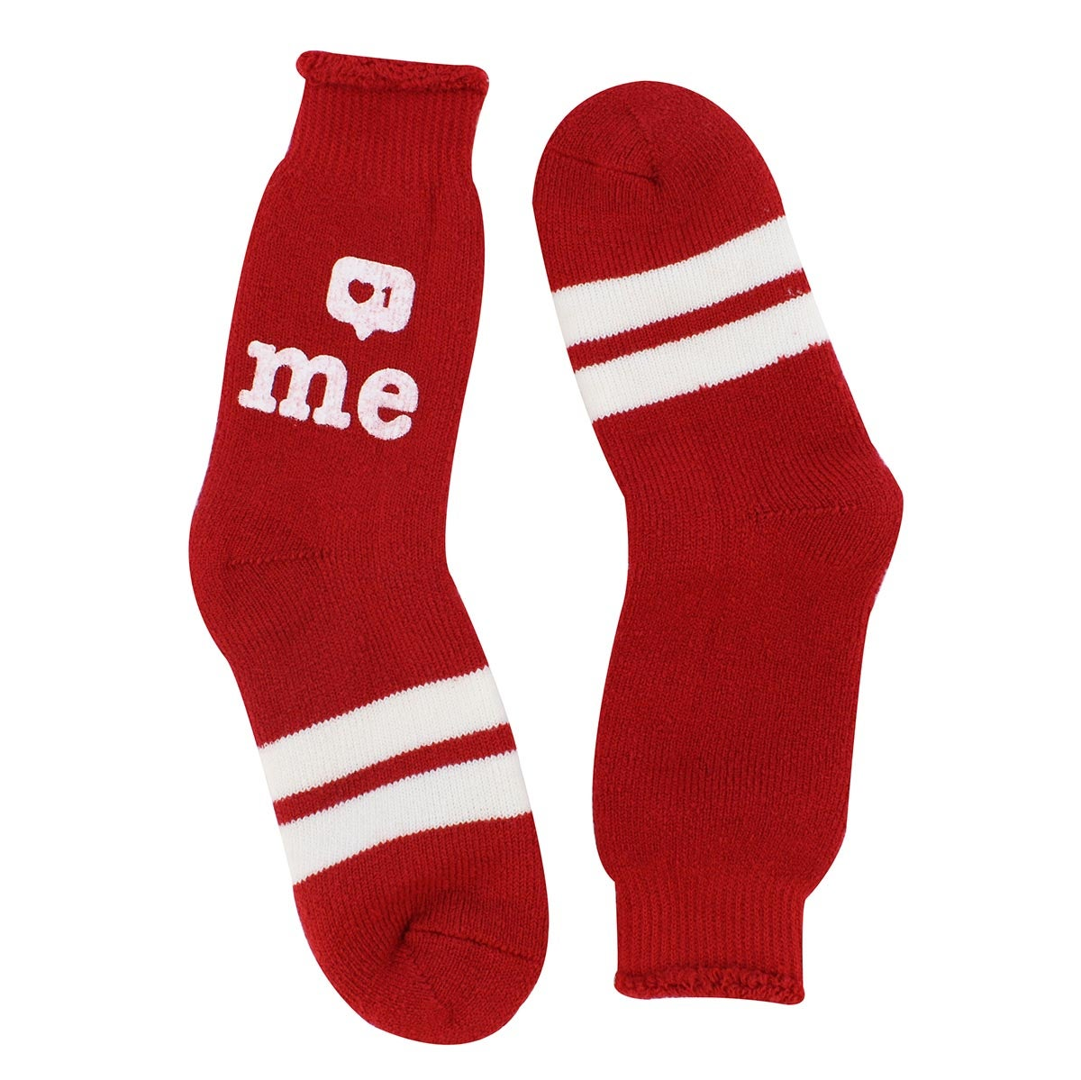 Lds Like Me red crew sock