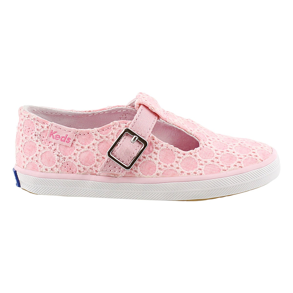 Grls T-Strappy pink casual sneaker
