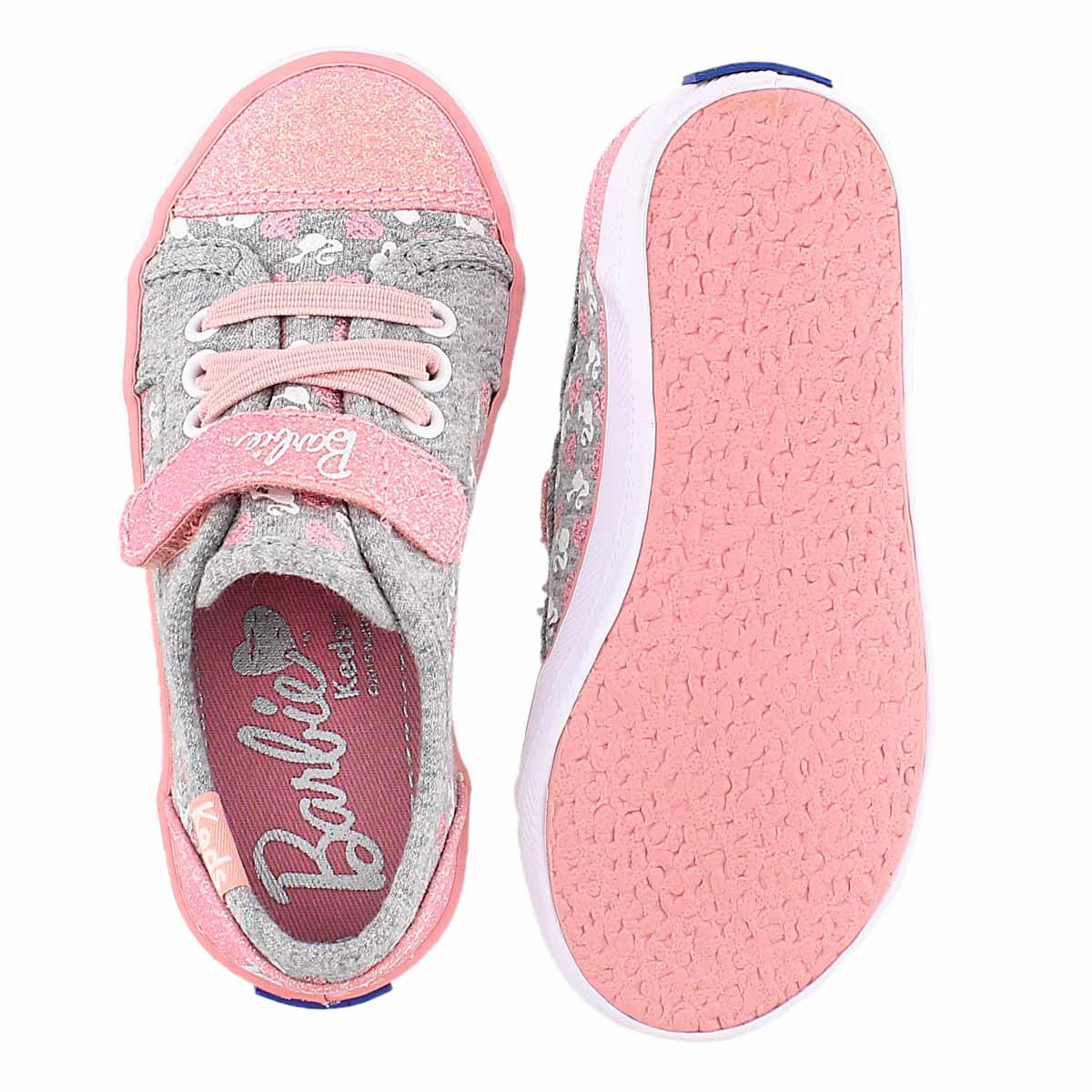 Inf Barbie AC grey/pink sneaker
