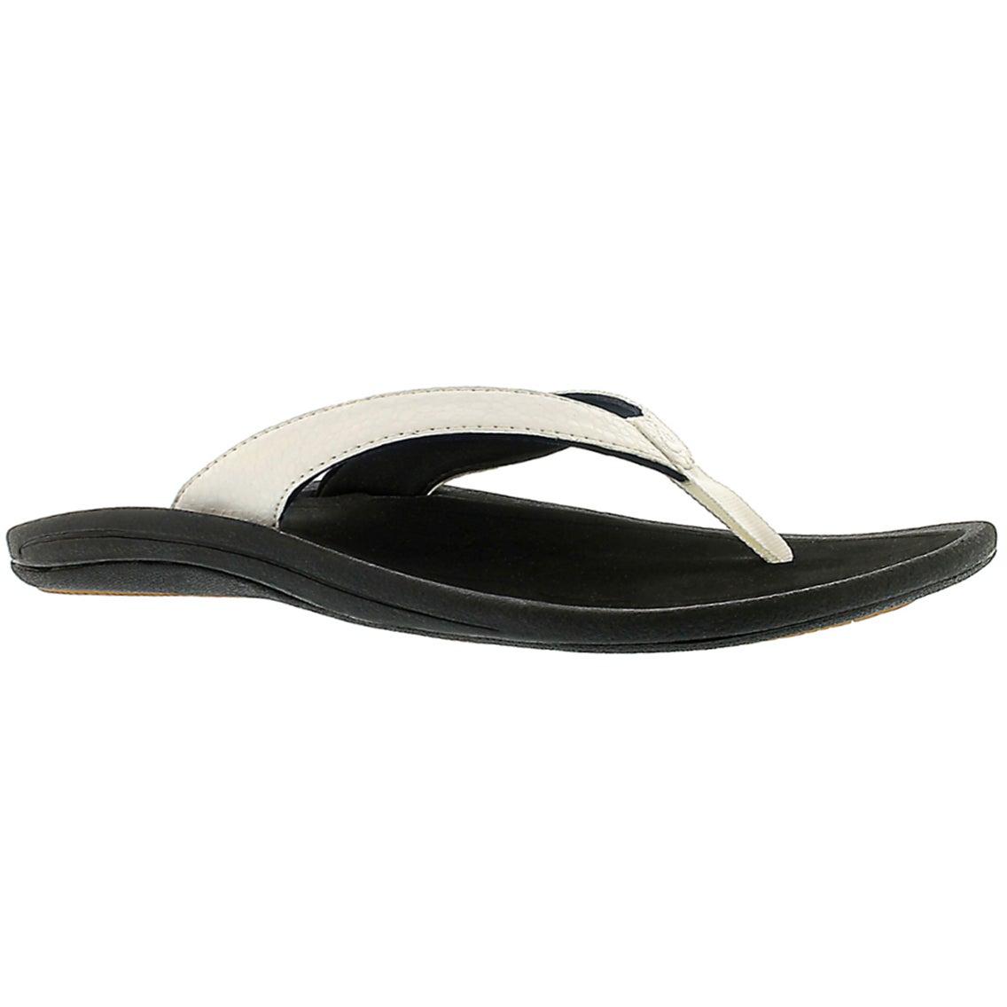 Sandales tongs KulapaKai, noir/blnc, fem