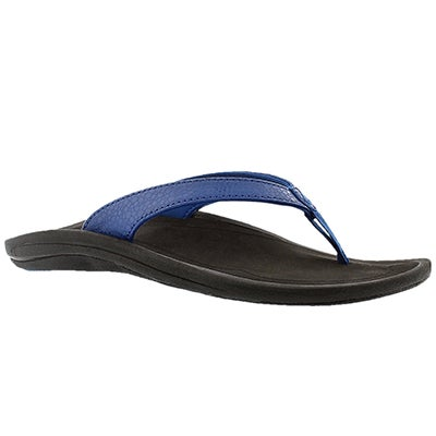 OluKai Women's KULAPA KAI blue thong sandals