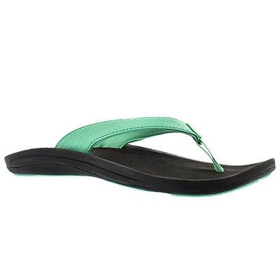 OluKai Women's KULAPA KAI pale jade thong sandals