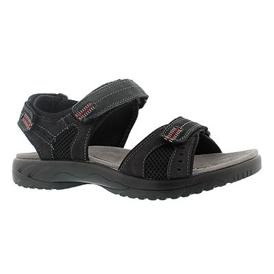 SoftMoc Men's KURT black 3 strap sport sandals
