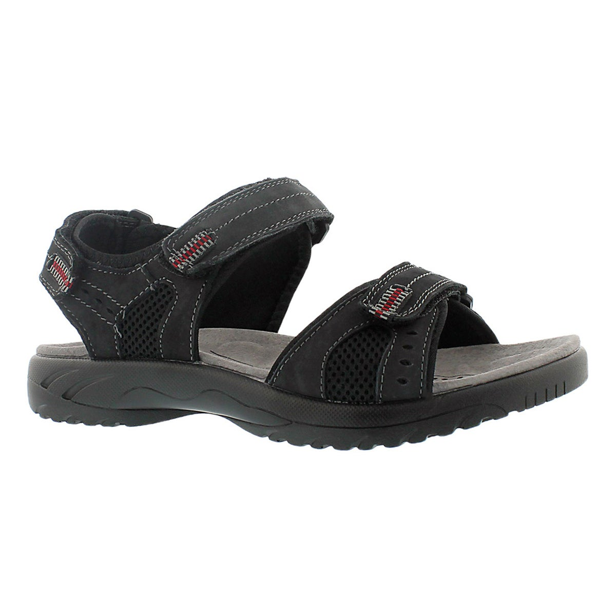 Men's KURT black 3 strap sport sandals