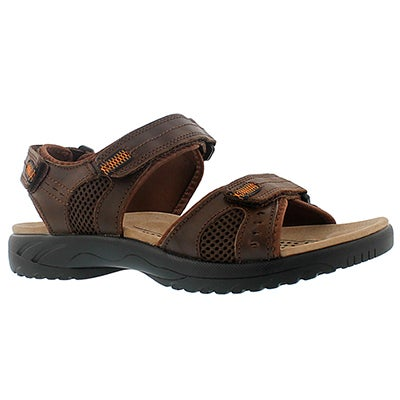 SoftMoc Men's KURT brown 3 strap sport sandals