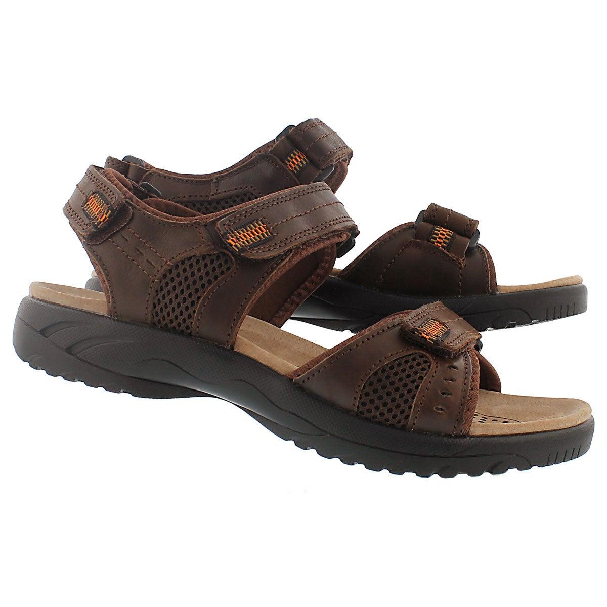 Mns Kurt brown 3 strap sport sandal
