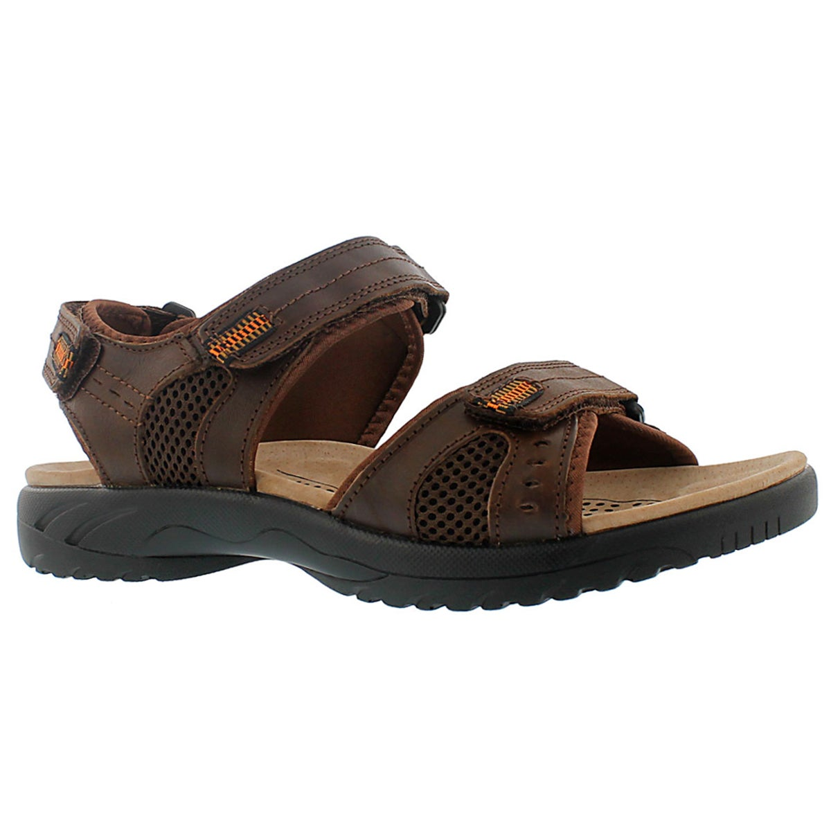 Men's KURT brown 3 strap sport sandals