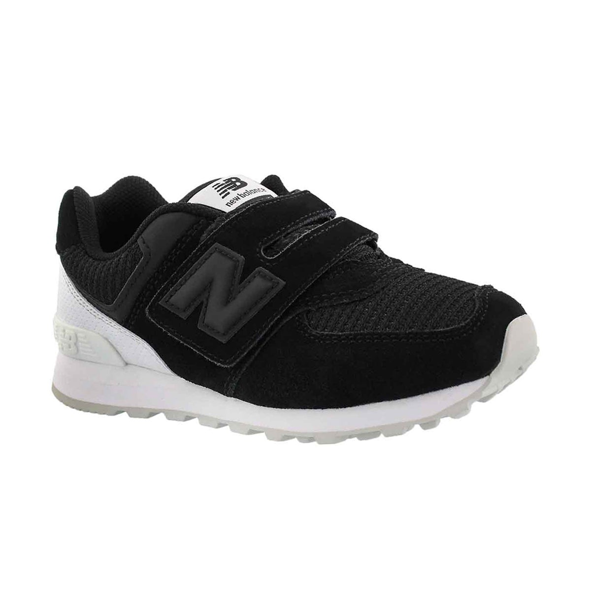 Boys' 574 black/white sneakers