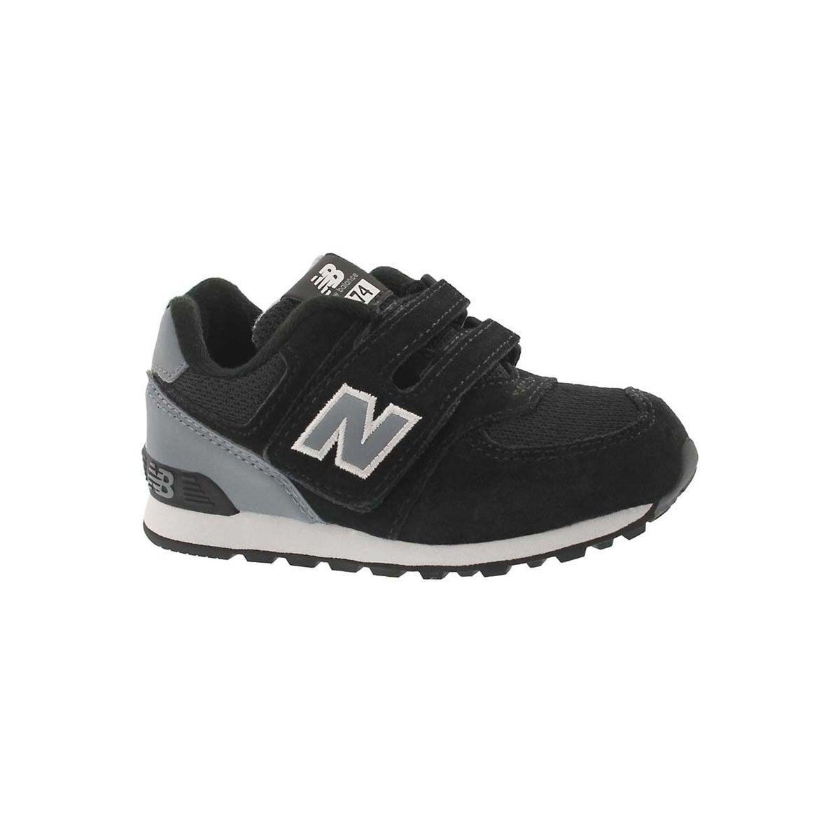 Infants' 574 black/grey sneakers